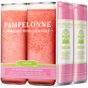 PAMPELONNE-SPARKLING WINE COCKTAILS - (Rose Lime) - 33.6oz(4pck)
