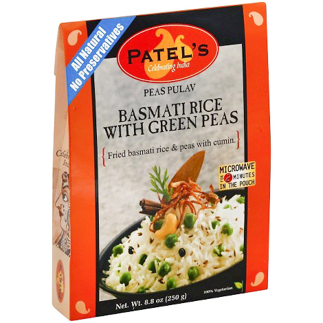 PATEL'S - ALL NATURAL - (Basmati Rice with Green Chickpeas) - 8.8oz