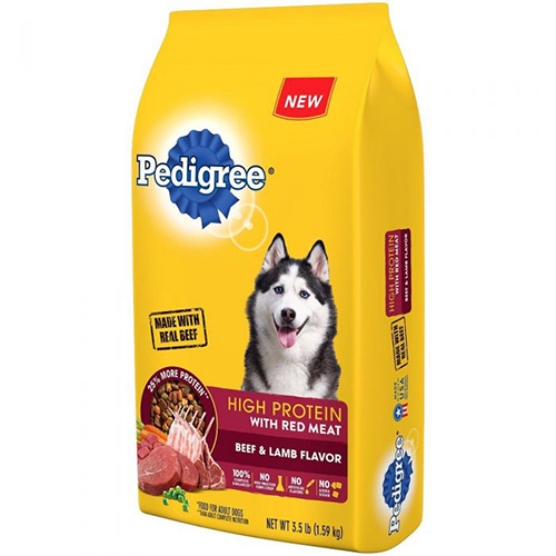 PEDIGREE - HIGH PROTEIN /W RED MEAT - (Beef & Lamb Flavor) - 3.5LB