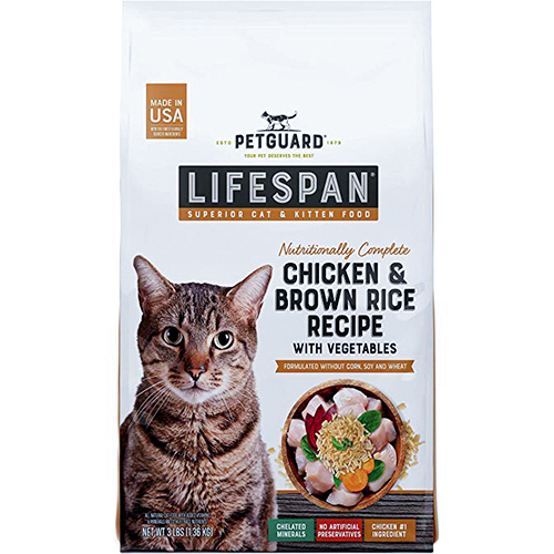 PETGUARD - LIFESPAN (Chicken & Brown Rice Recipe with Vegie) - 3lb