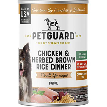 PETGUARD - NATURAL FOOD FOR YOUR DOG - (CAN #05   Chicken & Herbed Brown Rice Dinner) - 13.2oz