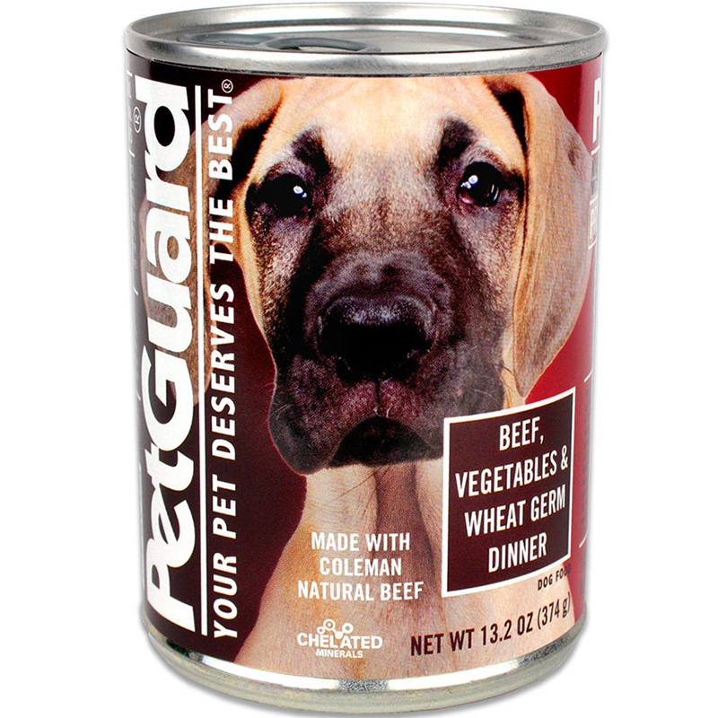 PETGUARD - NATURAL FOOD FOR YOUR DOG - (CAN #07 | Beef, Vegetables & Wheat Germ Dinner) - 13.2oz
