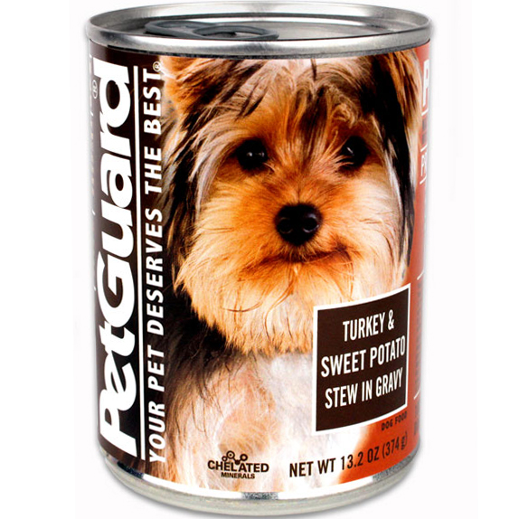 PETGUARD - NATURAL FOOD FOR YOUR DOG - (CAN #11 | Turkey & Sweet Potato Stew in Gravy) - 13.2oz
