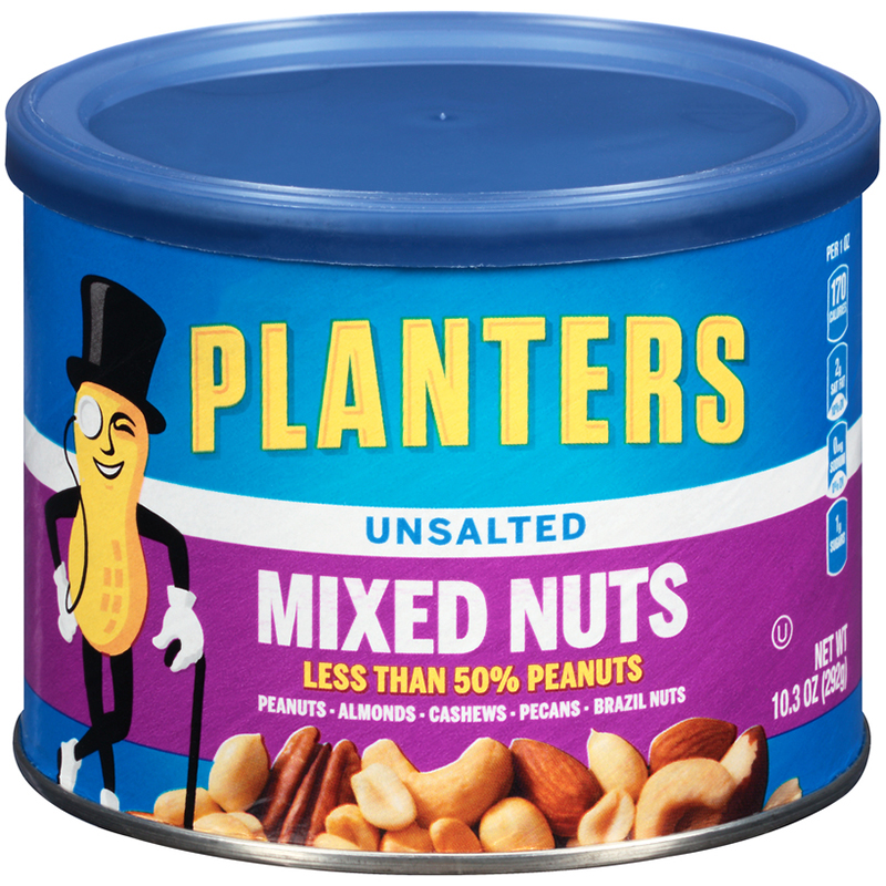 PLANTERS - MIXED NUTS - (Unsalted) - 10.3oz
