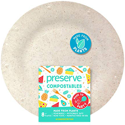 PRESERVE - 7in COMPOSTABLE NON-TOXIC PLATE - 8counts