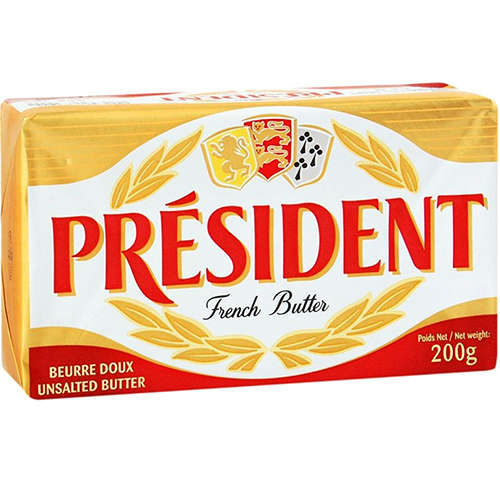 PRESIDENT - FRENCH BUTTER - (Unsalted) - 7oz