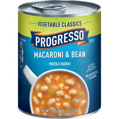 PROGRESSO - SOUP - (Macaroni & Bean) - 19oz
