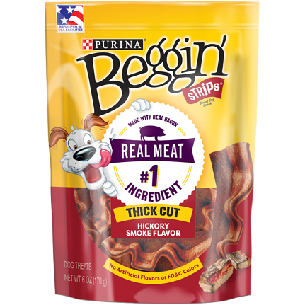 PURINA - BEGGIN' STRIPS (Hickory Smoke) - 6oz