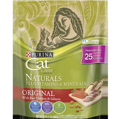 PURINA - CAT CHOW NATURALS PLUS VITAMINS & MINERALS - (Original) - 16oz
