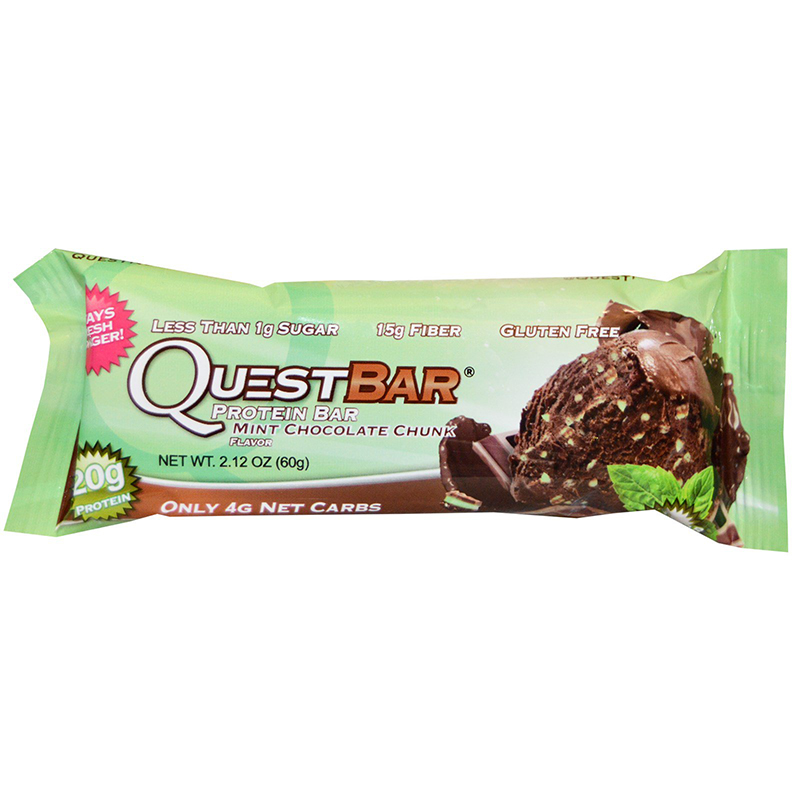 QUEST BAR - GLUTEN FREE - (Mint Chocolate Chunk) - 2.12oz