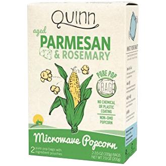 QUINN - AGED PARMESAN & ROSEMARY - NON GMO - MICROWAVE POPCORN - 7oz