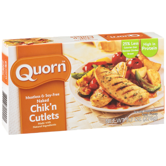 QUORN - CHIK'N CUTLETS - NON GMO - GLUTEN FREE - SOY FREE - 9.7oz