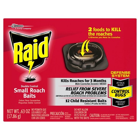 RAID - DOUBLE CONTROL SMALL ROACH BAITS - 12Ct