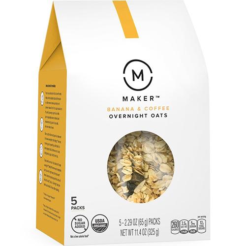 REAL MADE - OVERNIGHT OATS (Banana & Coffee) - 10.6oz