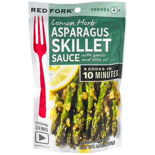 RED FORK - (Lemon Herb Asparagus Skillet) SAUCE - 4oz