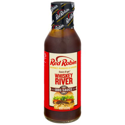 RED ROBIN - BBQ SAUCE - WHISKEY RIVER - 14oz