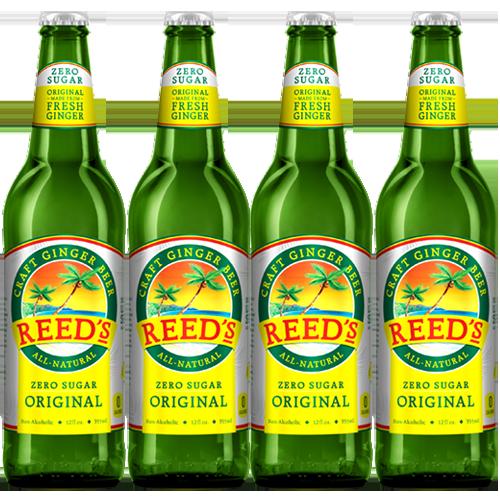 REED'S - CRAFT GINGER BEER - (Zero Sugar Original) - 12oz (4pck)