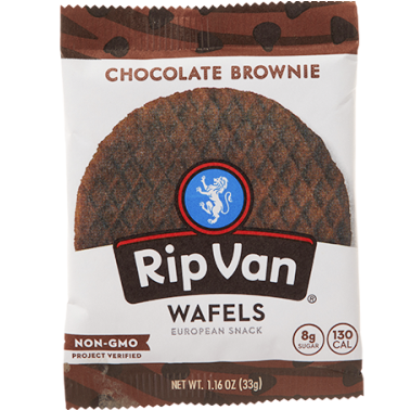 RIP VAN - WAFELS EUROPEAN SNACK - (Chocolate Brownie) - 1.16oz