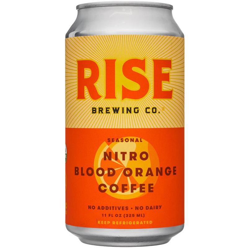 RISE BREWING CO - NITRO BLOOD ORANGE COFFEE - NON GMO - NO DAIRY - 11oz