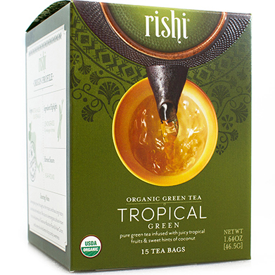 RISHI - GREEN TEA - (Tropical) - 15bags