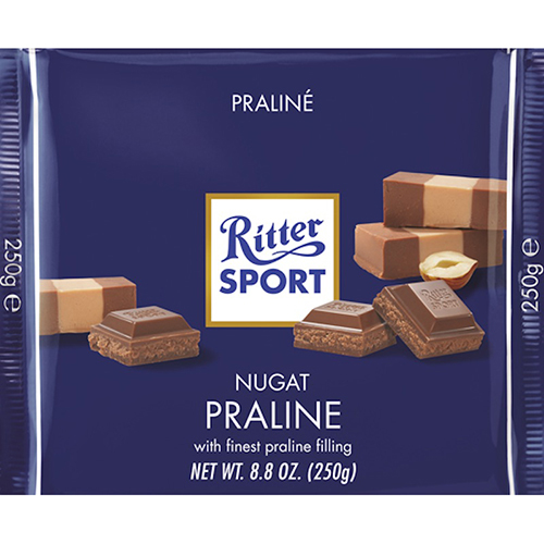 RITTER SPORT - MILK CHOCOLATE - (Praline) - 3.5oz