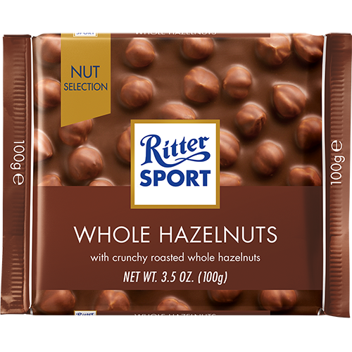 RITTER SPORT - MILK CHOCOLATE - (Whole Hazelnuts) - 3.5oz