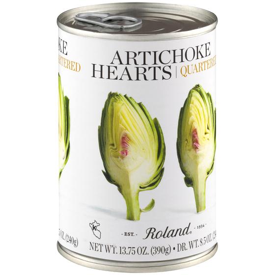 ROLAND - ARTICHOKE HEARTS QUARTERED - 13.75oz