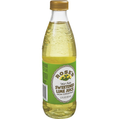 ROSE'S - SWEETENED LIME JUICE FROM CONCENTRATE - 12oz