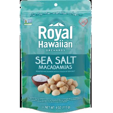 ROYAL HAWAIIAN ORCHARDS - MACADAMIAS - (Sea Salt) - 4oz