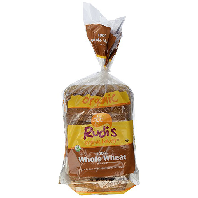 RUDI'S BAKERY - COUNTRY MORNING 100% WHOLE WHEAT BREAD - DAIRY FREE - NON GMO - 22oz