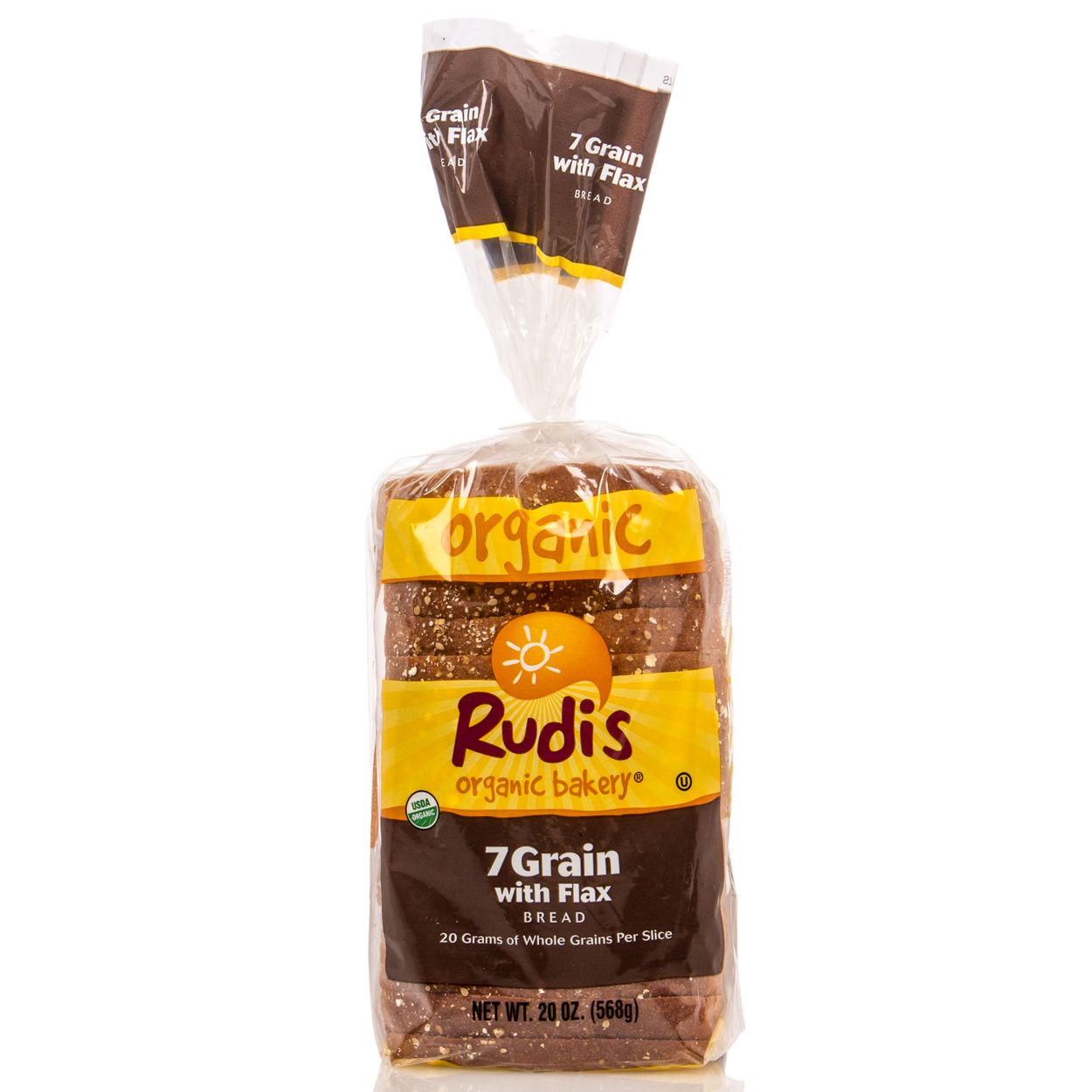 RUDI'S BAKERY - COUNTRY MORNING 7 GRAIN /W FLAX BREAD - DAIRY FREE - NON GMO - 22oz