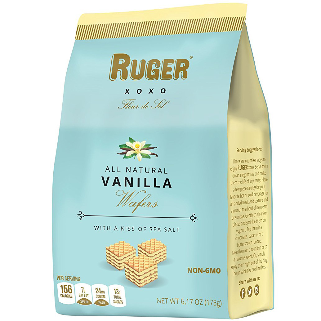 RUGER - XOXO ALL NATURAL WAFERS - NON GMO - (Vanilla) - 6.17oz