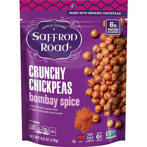 SAFFRON ROAD - CRUNCHY CHICKPEAS - (Bombay Spice) - 6oz