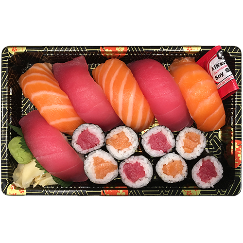 Salmon Tuna Sushi & Roll Box