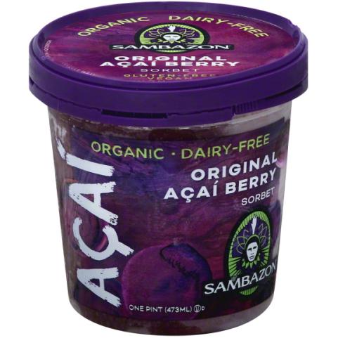 SAMBAZON - ORGINAL ACAI BERRY SORBET - NON GMO - GLUTEN FREE - VEGAN - 16oz