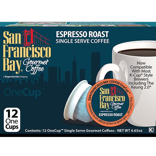 SAN FRANCISCO BAY - ONE CUP ESPRESSO ROAST - 12cups