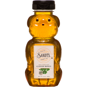 SANDT'S - UNFILTERED RAW CLOVER HONEY - 12oz