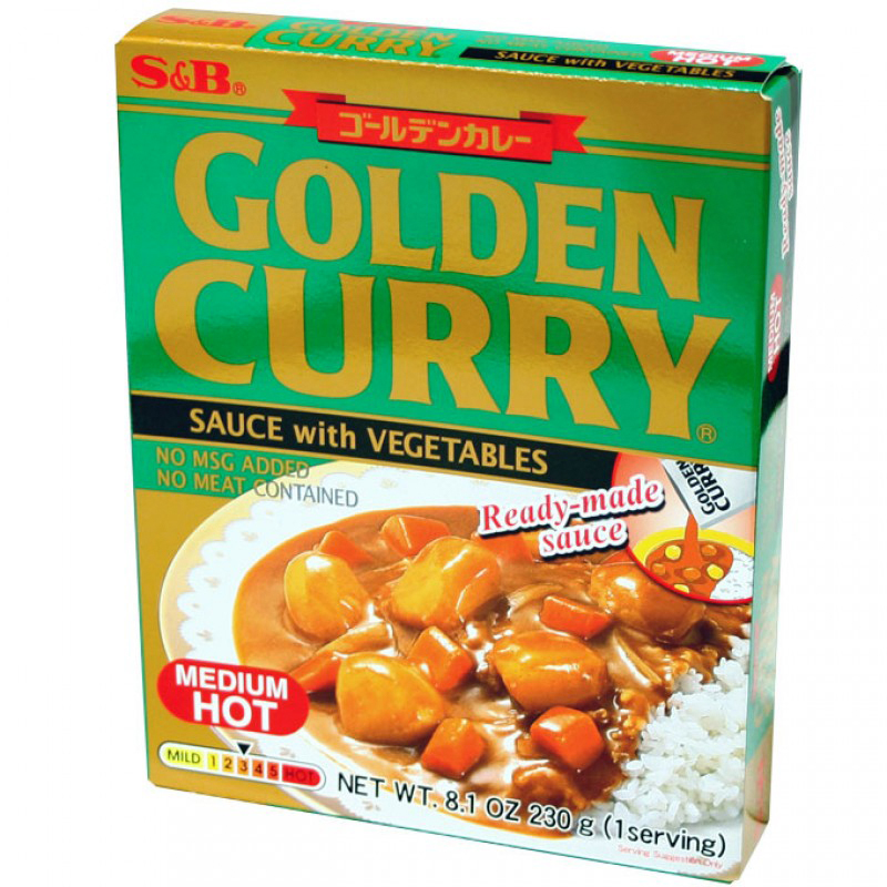 S&B - GOLDEN CURRY - (Med. Hot) - 8.1oz