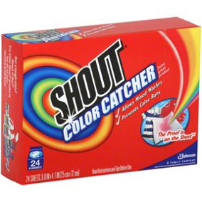 SC JOHNSON - SHOUT COLOR CATCHER DYE TRAPPING SHEET - 24counts