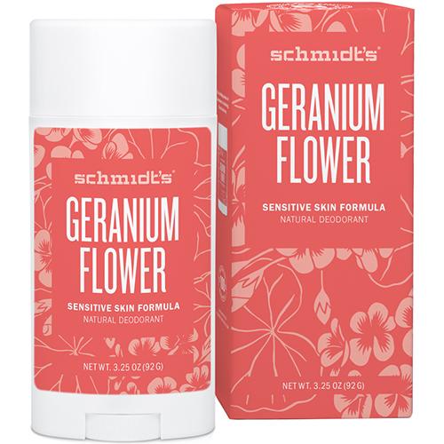 SCHMIDT'S - GERANIUM FLOWER - (Sensitive Skin Formula) - 3.25oz
