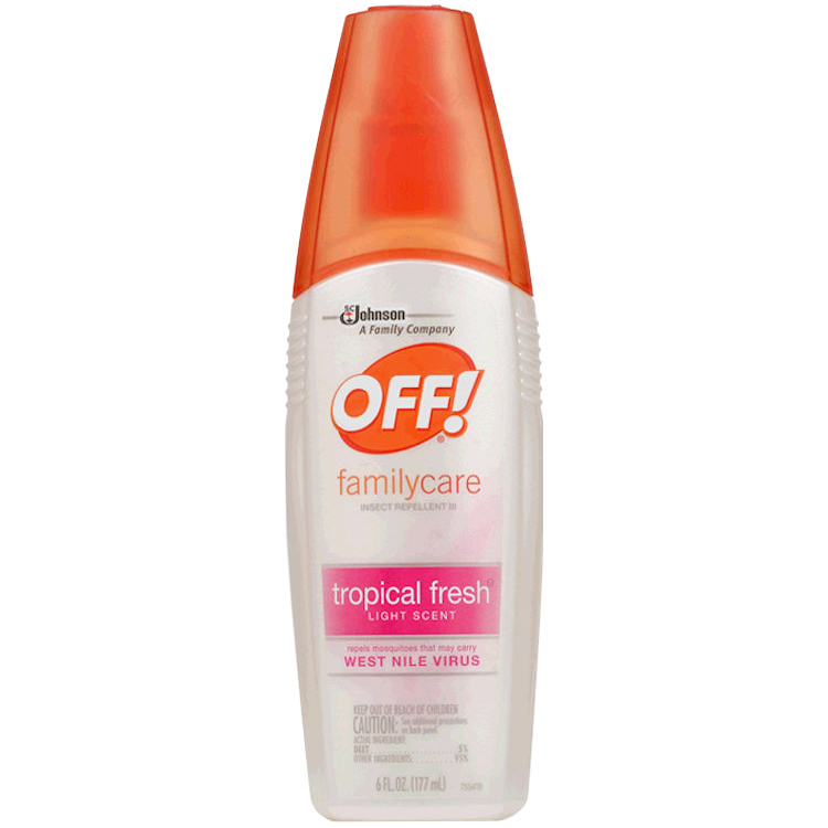 SC JOHNSON - OFF! FAMILYCARE INSECT REPELLENT III - (Tropical Fresh) - 6oz