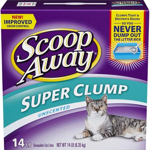 SCOOP AWAY - SUPER CLUMP - (Unsceanted) - 14LB