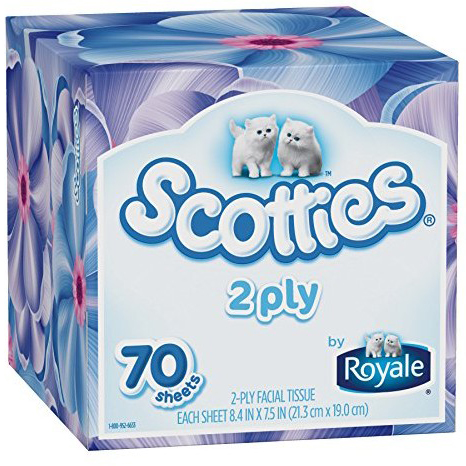 SCOTTIES - 2 PLY FACIAL TISSUE - 70counts
