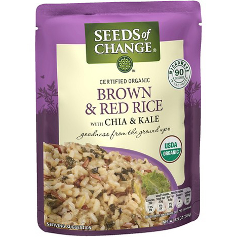 SEEDS OF CHANGE - BROWN & RED RICE - 8.5oz
