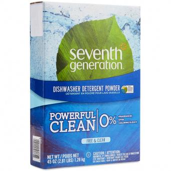 SEVENTH GENERATION - DISHWASHER DETERGENT POWDER - (Free & Clear) - 45oz