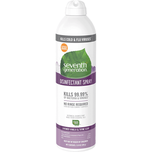 SEVENTH GENERATION - DISINFECTANT SPRAY - (Lavender Vanilla & Thyme Scent) - 13.9oz