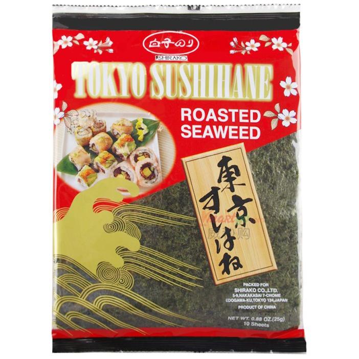 SHIRAKO - TOKYO SUSHIHANE ROASTED SEAWEED - 0.88oz