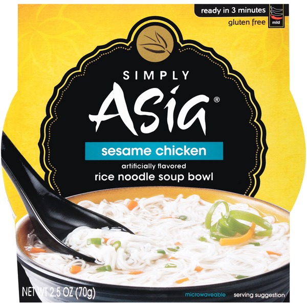 SIMPLY ASIA - SESAME CHICKEN- GLUTEN FREE - NOODLE SOUP - 2.5oz