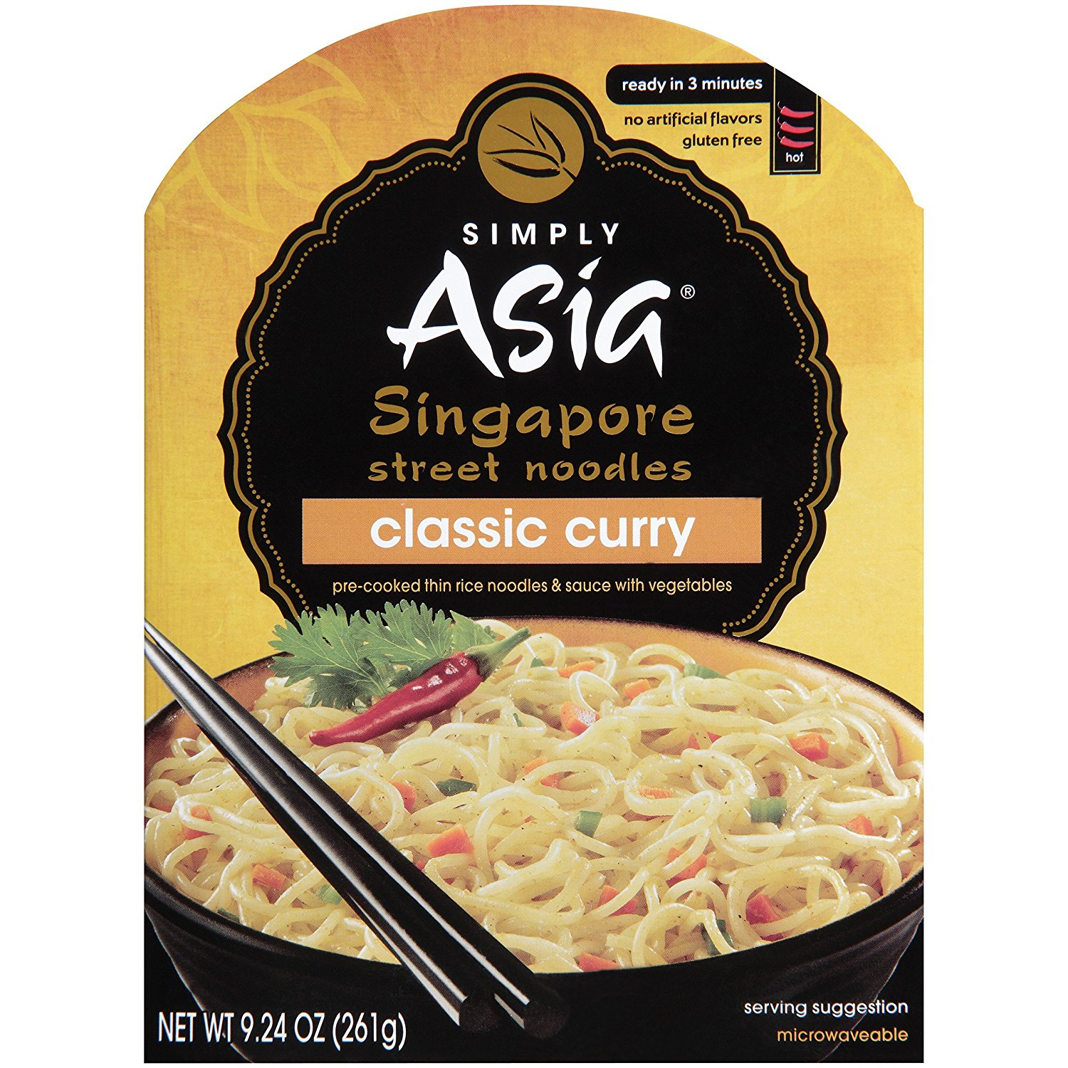 SIMPLY ASIA - SINGAPORE STREET NOODLES - GLUTEN FREE - CLASSIC CURRY - 9.24oz