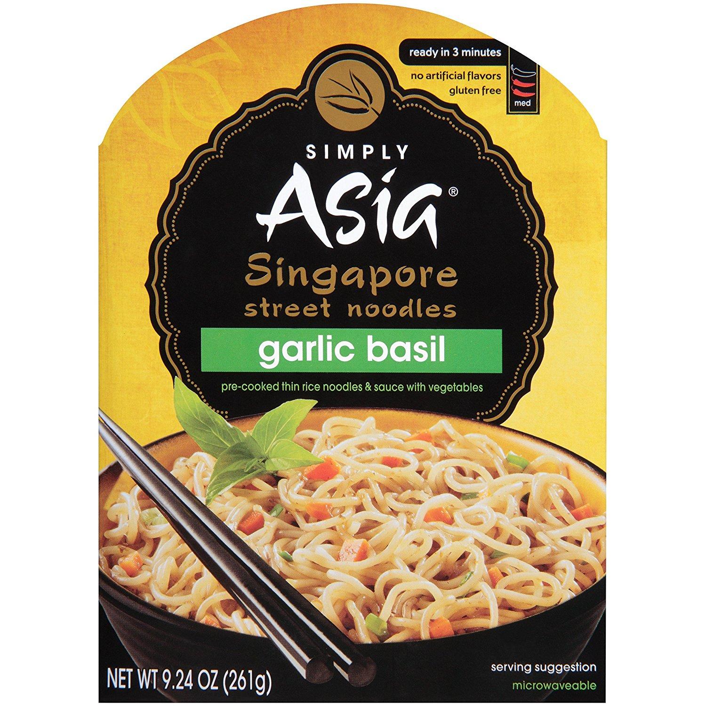 SIMPLY ASIA - SINGAPORE STREET NOODLES - GLUTEN FREE - GARLIC BASIL - 9.24oz